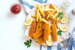 rybi francuz smaży kije Fotografia Royalty Free