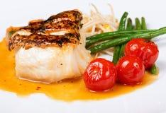 rybi garnirunek piec na grillu Fotografia Royalty Free