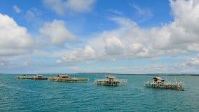 Rybi gospodarstwa rolne na stilts w Cebu morzach Zdjęcia Royalty Free