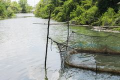 Rybi gospodarstwo rolne dla rosnąć w otwartej wodzie Obrazy Stock