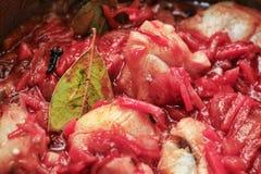 Rybi gulasz marynowany Zdjęcia Stock