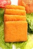 Rybi hamburger zdjęcie stock