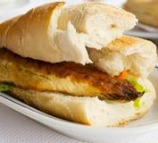Rybi hamburger Zdjęcia Stock