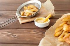 Rybi i układy scaleni fast food Zdjęcia Royalty Free