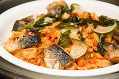Rybi jedzenie przygotowywający Zdjęcie Stock