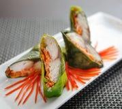 Rybi jedzenie z warzywami Zdjęcia Royalty Free
