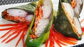 Rybi jedzenie z warzywami Obraz Royalty Free