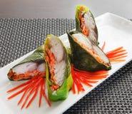 Rybi jedzenie z warzywami Obrazy Royalty Free