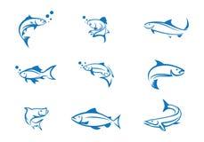 Rybi loga szablon Obrazy Stock