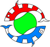 Rybi logo Fotografia Stock