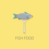 Rybi logo rybiego jedzenia pietruszki talerz piec morze Zdjęcie Stock