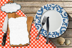Rybi menu projekt Zdjęcia Royalty Free