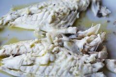 Rybi naczynie - smażący rybi polędwicowy Barracuda Zdjęcie Royalty Free