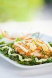 Rybi naczynie - smażący rybi polędwicowy Fotografia Stock