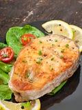 Rybi naczynie - smażący rybi polędwicowy Zdjęcia Stock