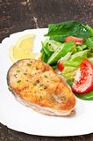Rybi naczynie - smażący rybi polędwicowy Obraz Stock