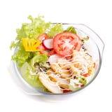 Rybi naczynie - smażący rybi polędwicowy z warzywami Zdjęcie Royalty Free