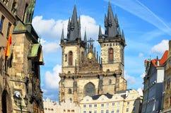 Rybi oko Stary Rynek w Praga Obraz Royalty Free