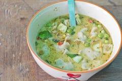Rybi piłki zieleni curry Obraz Royalty Free