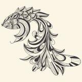 rybi pojęcie monochrom Fotografia Royalty Free