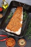 Rybi polędwicowy przygotowany piec zdjęcia royalty free