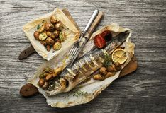 Rybi posiłek fotografia stock