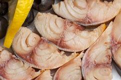Rybi przecinań mięsa obraz royalty free