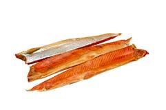 Rybi Pstrągowy zimno dymiący fotografia stock