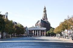 Rybi rynek i Kukurydzany Wekslowy budynek, Groningen, Holandia Zdjęcie Royalty Free