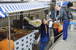 Rybi rynek na łodzi rybackiej Zdjęcie Stock