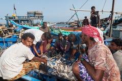 Rybi rynek w Jemen zdjęcie stock