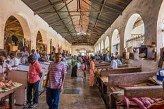 Rybi rynek w Kamiennym miasteczku, Zanzibar, Tanzania Obrazy Stock