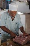 Rybi sprzedawca w Barce, Oman Fotografia Royalty Free
