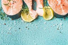 rybi surowy łosoś Zdjęcie Royalty Free