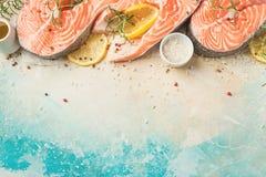 rybi surowy łosoś Fotografia Stock
