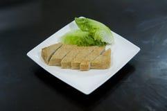 Rybi tort dla steamboat zdjęcia royalty free