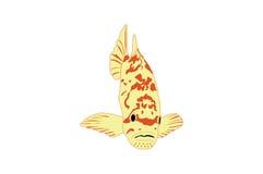 rybi tropikalny kolor żółty ilustracja wektor