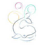 Rybi wieloryb Obraz Royalty Free
