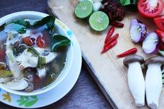 Rybi zupny Tajlandia jedzenie Fotografia Stock
