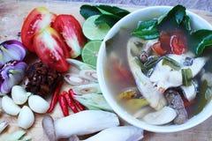 Rybi zupny Tajlandia jedzenie Zdjęcia Stock