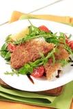 rybia świeża smażąca sałatka Zdjęcie Stock