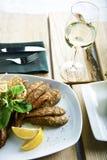 rybia świeża smażąca szklana cytryna Zdjęcie Stock