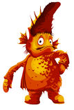 Rybia duża potwora charakteru kreskówki stylu ilustracja Obrazy Royalty Free