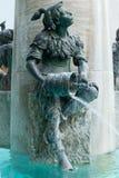 Rybia fontanna, Monachium, Niemcy zdjęcie royalty free