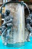 Rybia fontanna przed urzędem miasta w Monachium, Niemcy Obraz Royalty Free