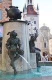 Rybia fontanna w Monachium lub Fischbrunnen Obrazy Royalty Free