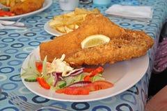 Rybia i układ scalony gościa restauracji kolacja obraz royalty free