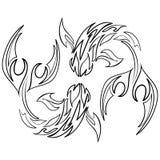 Rybia ikona na Białym tle Astrologia zodiak Obraz Royalty Free
