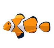 Rybia ikona Wektorowa płaska ilustracja Ocean lub denna ryba Obrazy Royalty Free