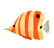 Rybia ikona Wektorowa płaska ilustracja Ocean lub denna ryba Fotografia Stock